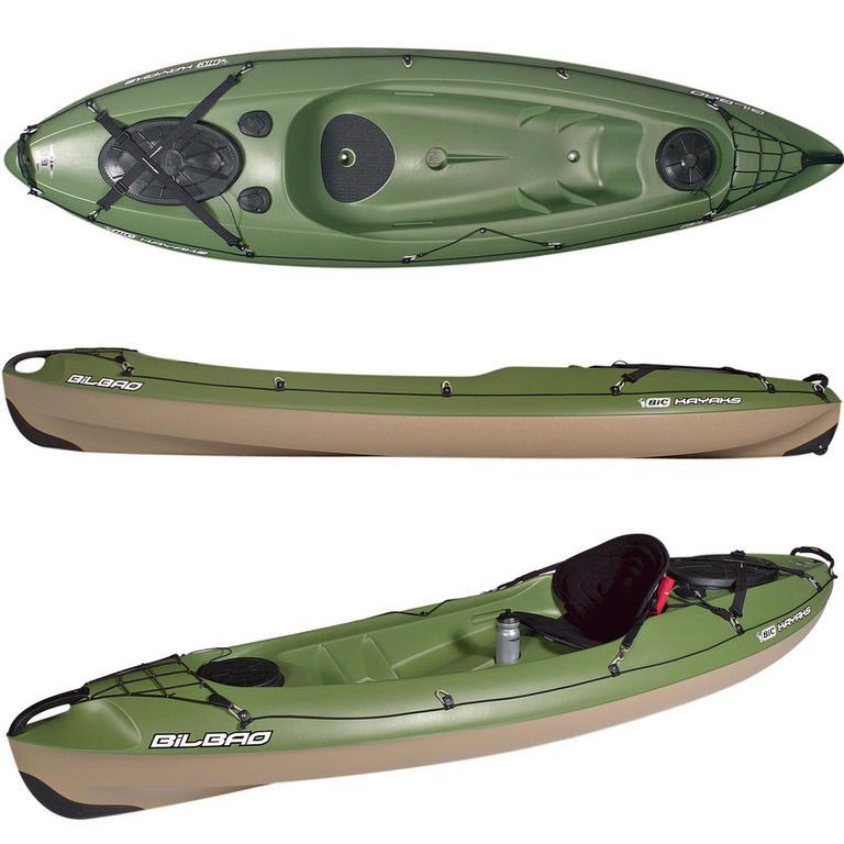 BIC SPORT(ビックスポーツ) Bilbao Fishing green 1人乗りフィッシングカヤック [Y0333] カヤック カヤック本体 フィッシング