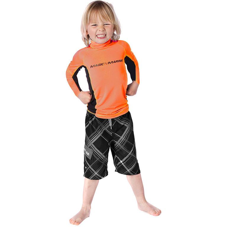 MAGIC MARINE(マジックマリン) CUBE RASH VEST LS KIDS ラッシュガード キッズ 半袖 UVカット [15001.140100] ジュニア マリンスポーツウェア ラッシュガード