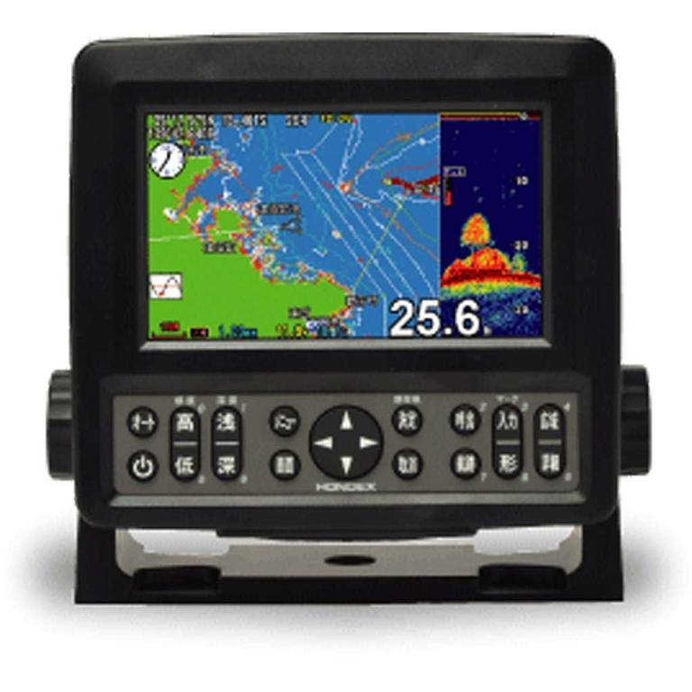 HONDEX(ホンデックス) 5型ワイドカラー液晶GPSプロッター魚探 [HE-601GPII] アクセサリー&パーツ ボートアクセサリー 魚探&GPS