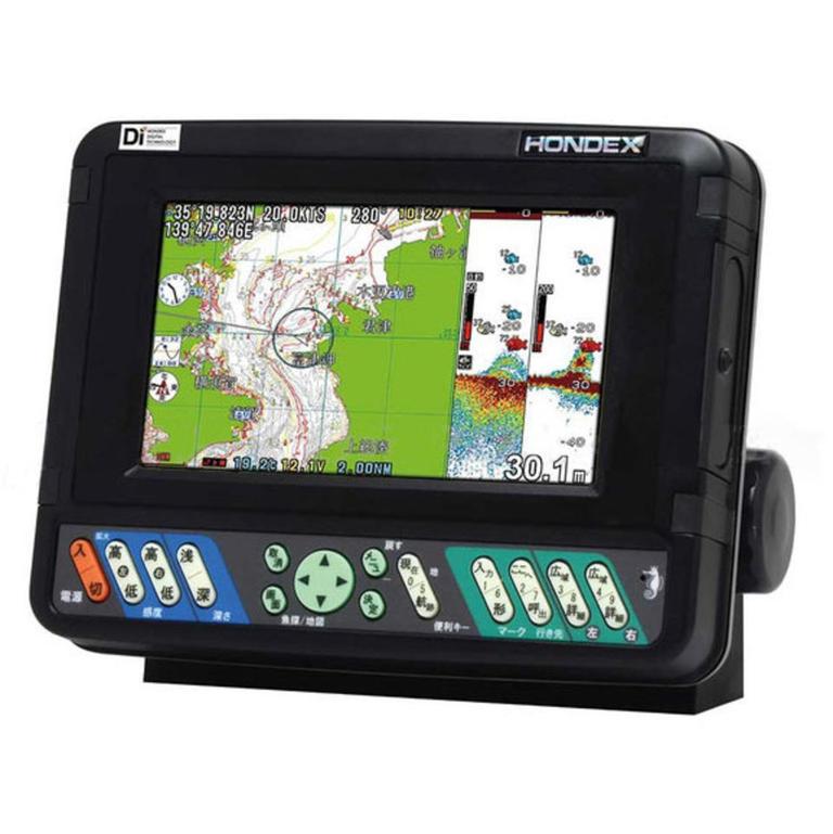HONDEX(ホンデックス) 7型ワイドカラー液晶プロッターデジタル魚探 GPS外付仕様 [HE-701GP-Di] アクセサリー&パーツ ボートアクセサリー 魚探&GPS