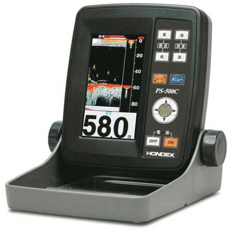 HONDEX(ホンデックス) 4.3型 ワイドカラー液晶魚群探知機 電源コード・架台セット [PS-500C] アクセサリー&パーツ ボートアクセサリー 魚探&GPS