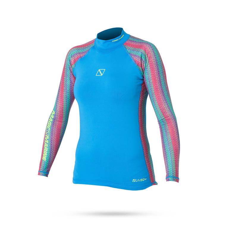 MAGIC MARINE(マジックマリン) ENERGY RASH VEST L/S Rash vest | women ラッシュガード レディース 長袖 UVカット [15001.160090] レディース マリンスポーツウェア ラッシュガード