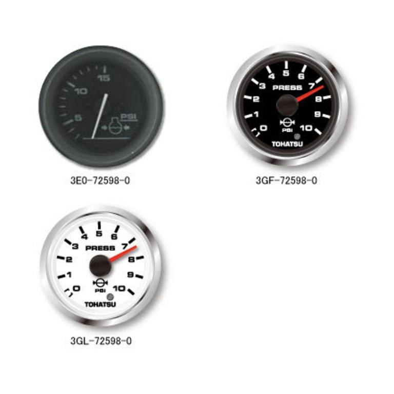 TOHATSU(トーハツ) ウォータプレッシャメータキット黒(水圧計)MFS25/30C, 40馬力以上全モデル [3GF-72598-0] アクセサリー&パーツ ボートアクセサリー エンジン関連