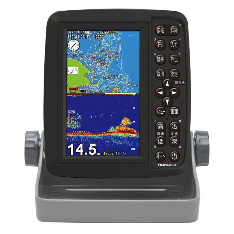 HONDEX(ホンデックス) 5型ワイドカラー液晶ポータブルGPS内蔵プロッター魚探 [PS-611CN] アクセサリー&パーツ ボートアクセサリー 魚探&GPS