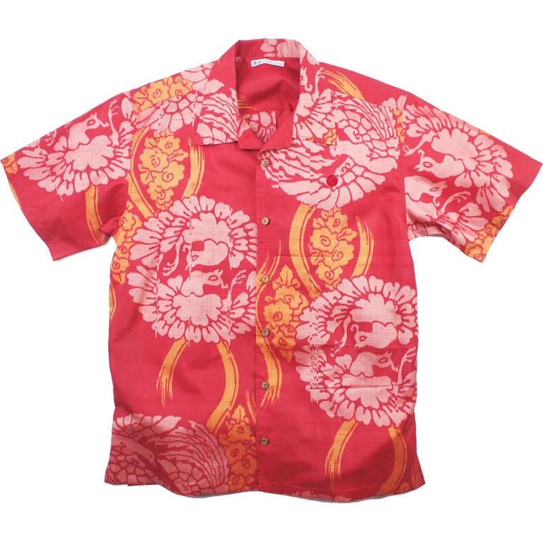 Made in Kamakura(メイドインカマクラ) 大きいサイズの和柄アロハシャツ KUJYAKU [46] メンズ メンズファッション アロハシャツ