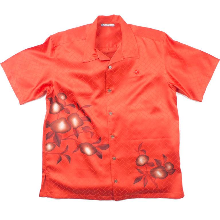 Made in Kamakura(メイドインカマクラ) 大きいサイズの和柄アロハシャツ  KAKI M [59] メンズ メンズファッション アロハシャツ