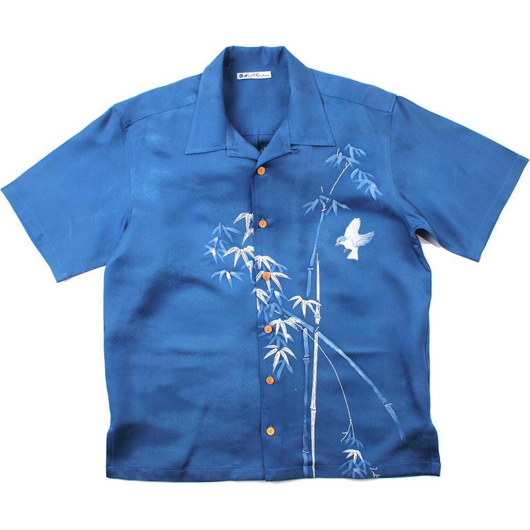 Made in Kamakura(メイドインカマクラ) 大きいサイズの和柄アロハシャツ TAKETORI [53] メンズ メンズファッション アロハシャツ