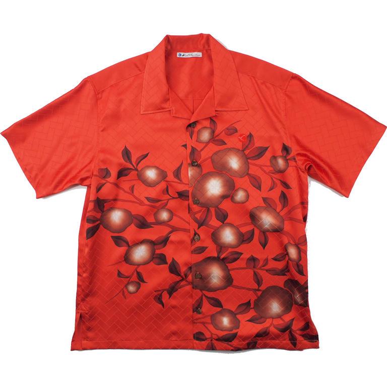 Made in Kamakura(メイドインカマクラ) 大きいサイズの和柄アロハシャツ KAKI S [44] メンズ メンズファッション アロハシャツ