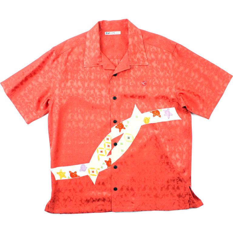 Made in Kamakura(メイドインカマクラ) 大きいサイズの和柄アロハシャツ KIKU S [37] メンズ メンズファッション アロハシャツ