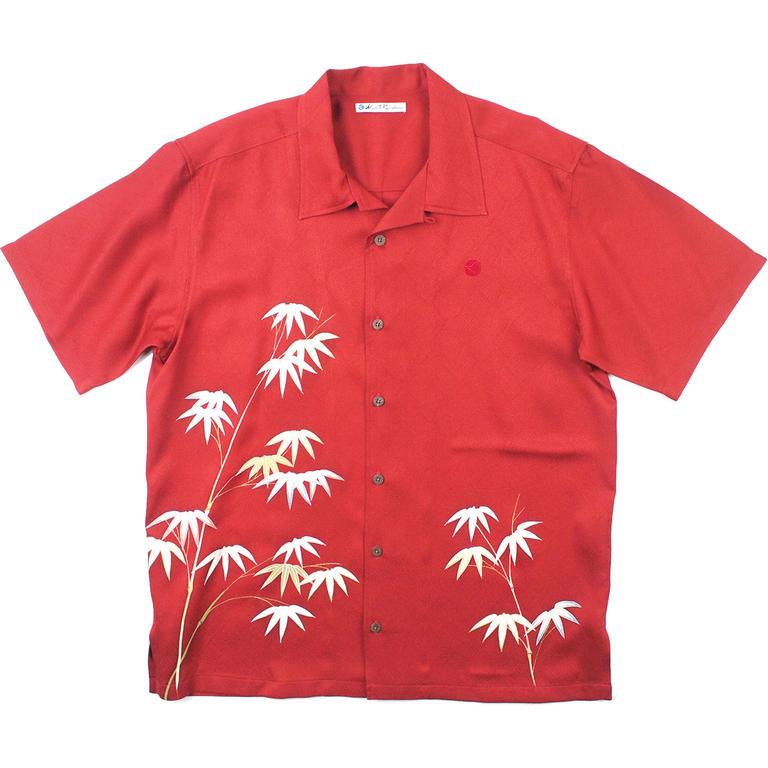 Made in Kamakura(メイドインカマクラ) 大きいサイズの和柄アロハシャツ KUMAZASA M [62] メンズ メンズファッション アロハシャツ