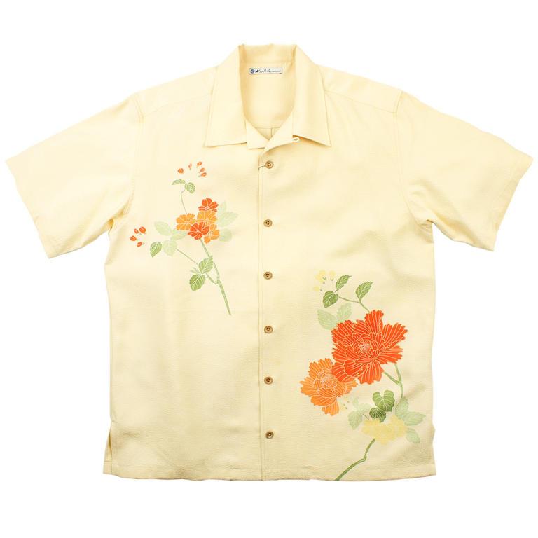 Made in Kamakura(メイドインカマクラ) 大きいサイズの和柄アロハシャツ BOTAN M [38] メンズ メンズファッション アロハシャツ