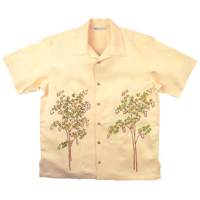 Made in Kamakura(メイドインカマクラ) 大きいサイズの和柄アロハシャツ HAGI M [52] メンズ メンズファッション アロハシャツ