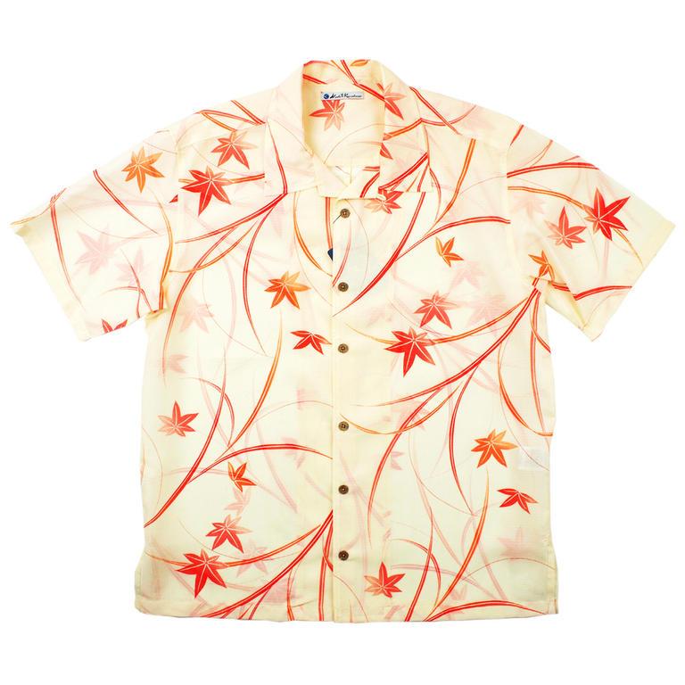 Made in Kamakura(メイドインカマクラ) 大きいサイズの和柄アロハシャツ KAEDE [42] メンズ メンズファッション アロハシャツ