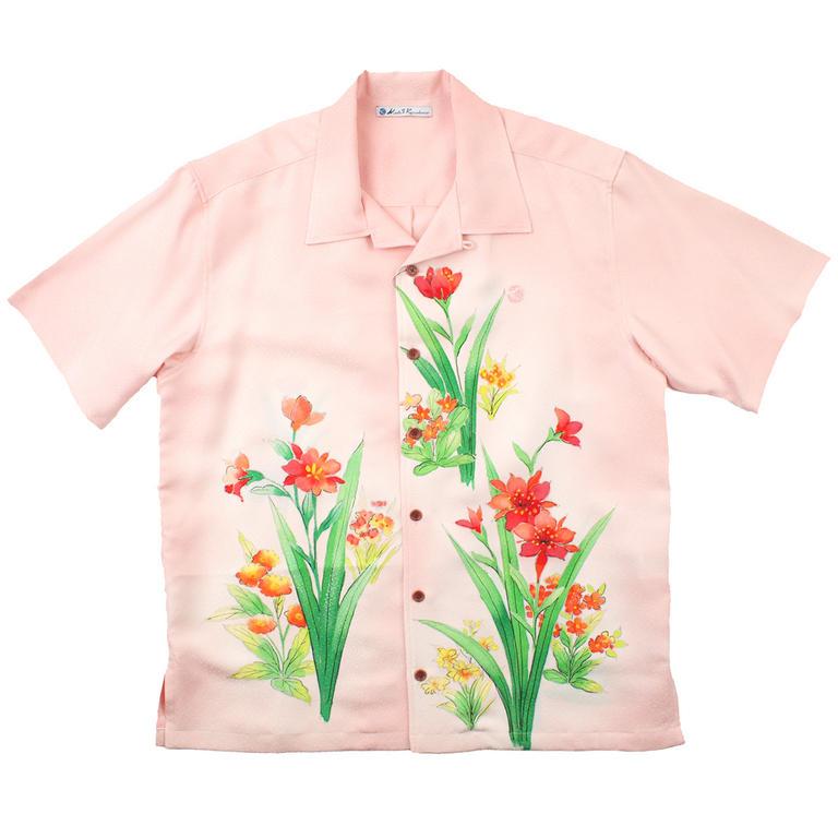 Made in Kamakura(メイドインカマクラ) 大きいサイズの和柄アロハシャツ SUISEN M [29] メンズ メンズファッション アロハシャツ