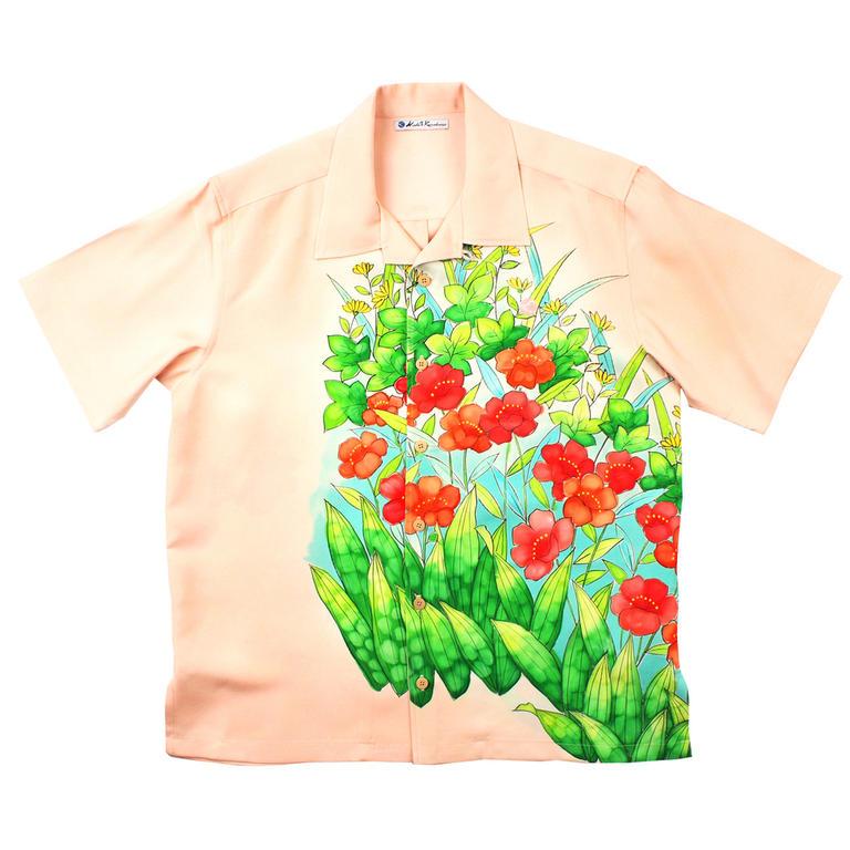 Made in Kamakura(メイドインカマクラ) 大きいサイズの和柄アロハシャツ YAMABUKI S [47] メンズ メンズファッション アロハシャツ