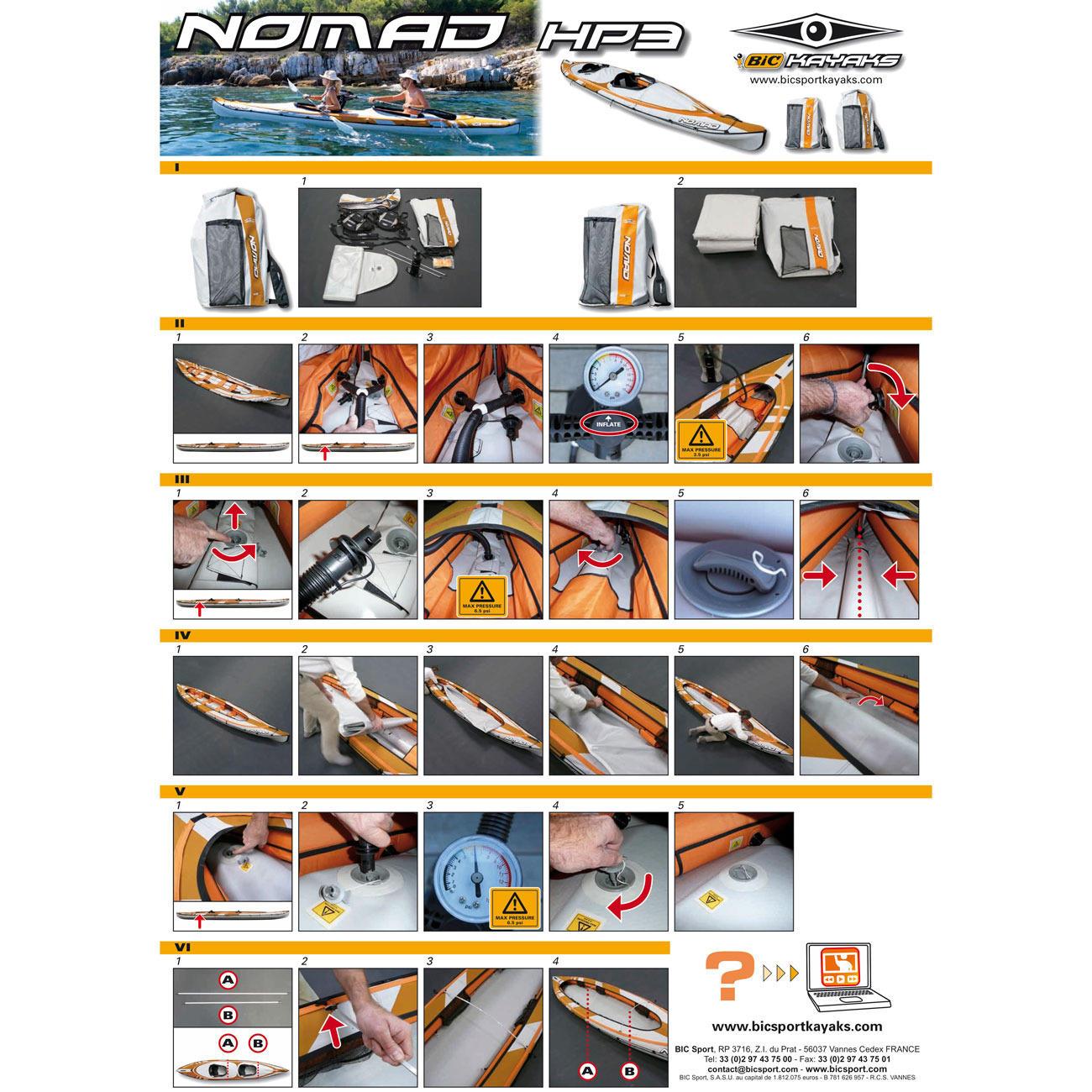 NOMAD HP3 2人乗りインフレータブルカヤック