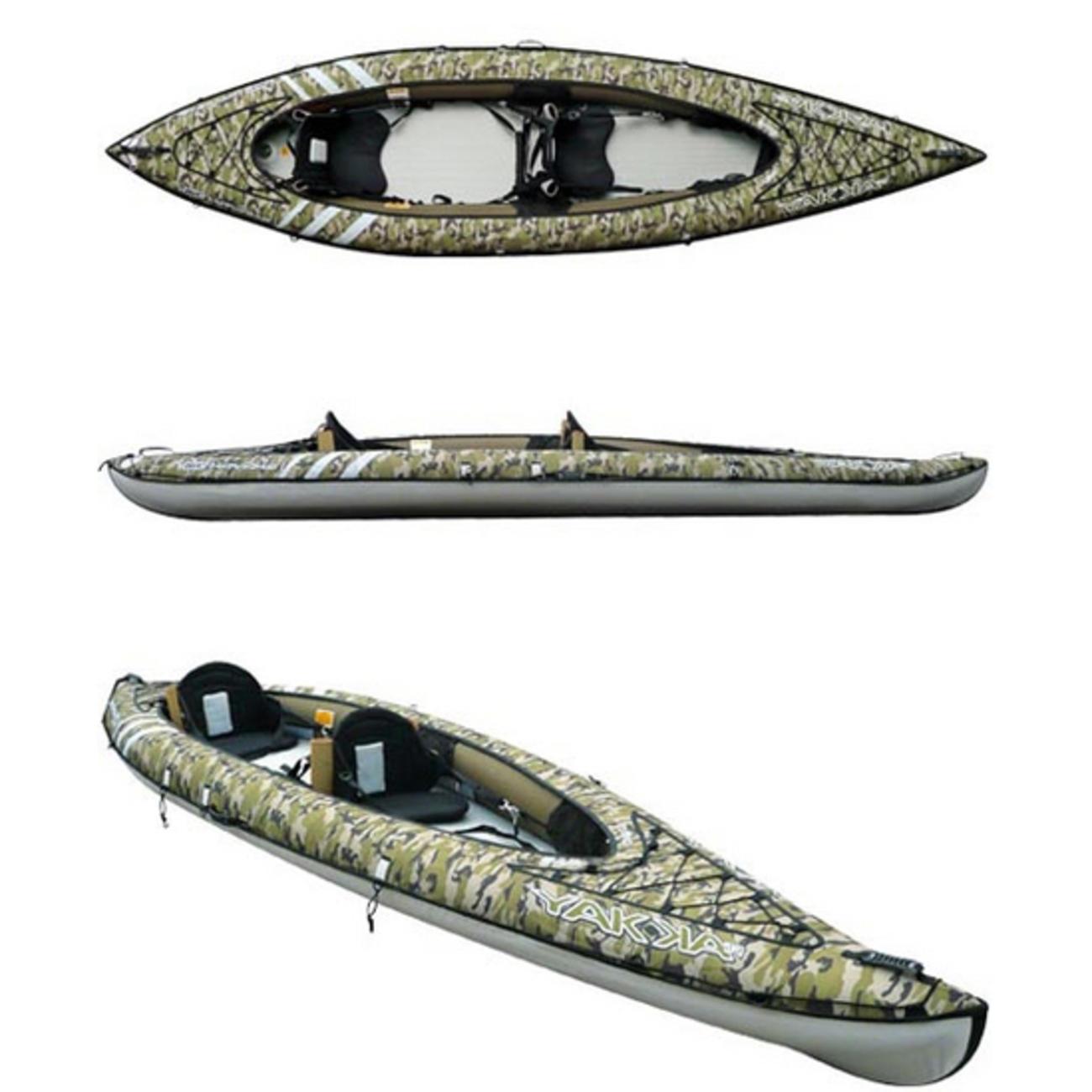 YAKKAIR HP2 FISHING 2人乗りインフレータブルカヤック