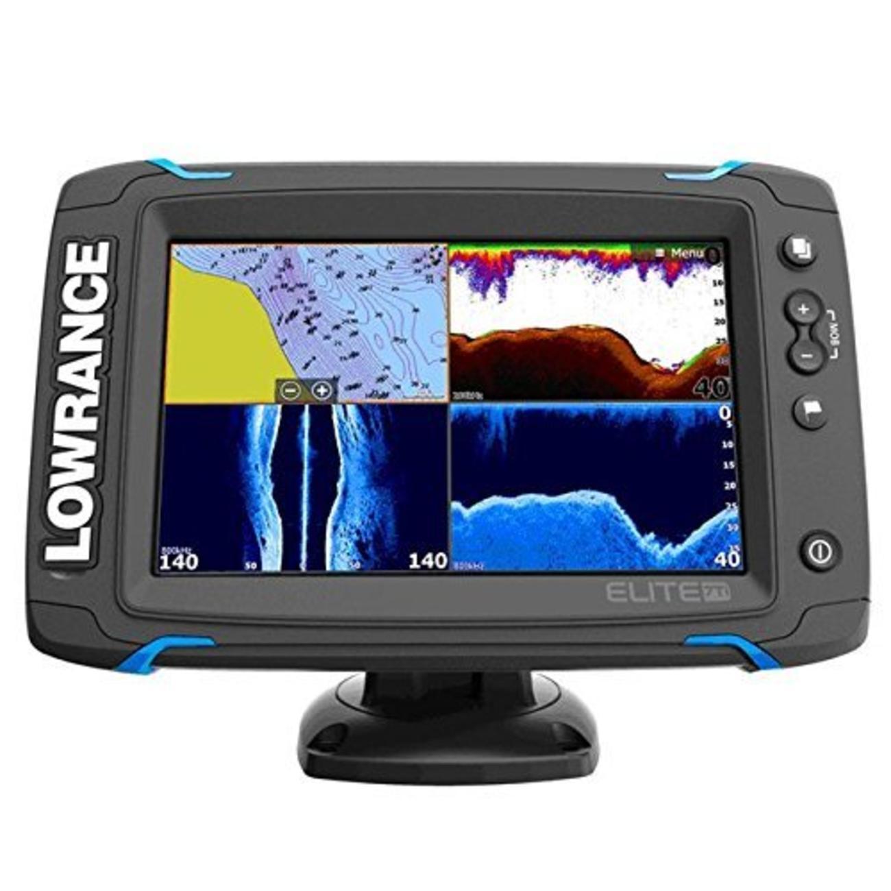 LOWRANCE(ローランス) Elite-7Ti 深場用振動子付 全国湖沼図AT5付き 魚群探知機