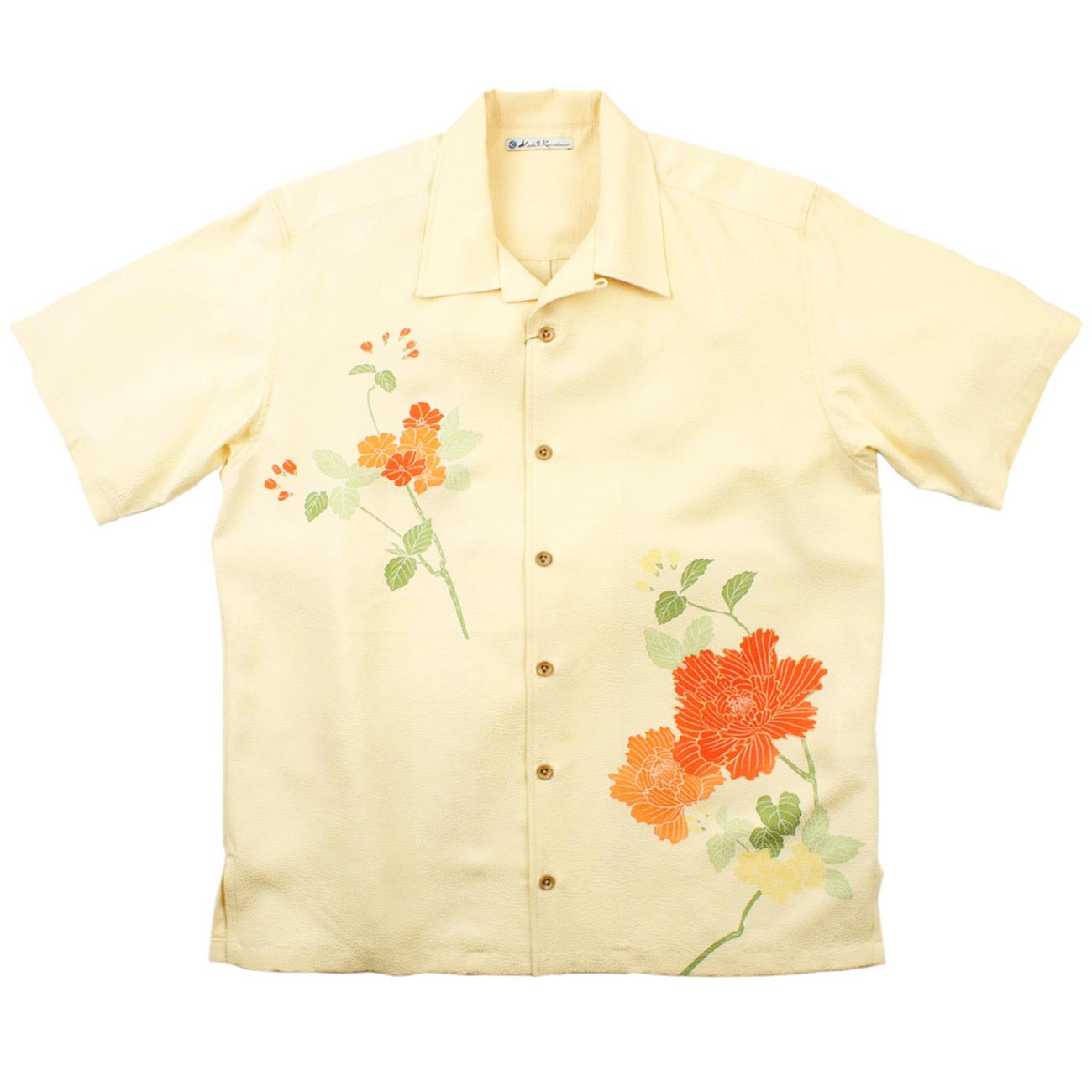 大きいサイズの和柄アロハシャツ BOTAN M