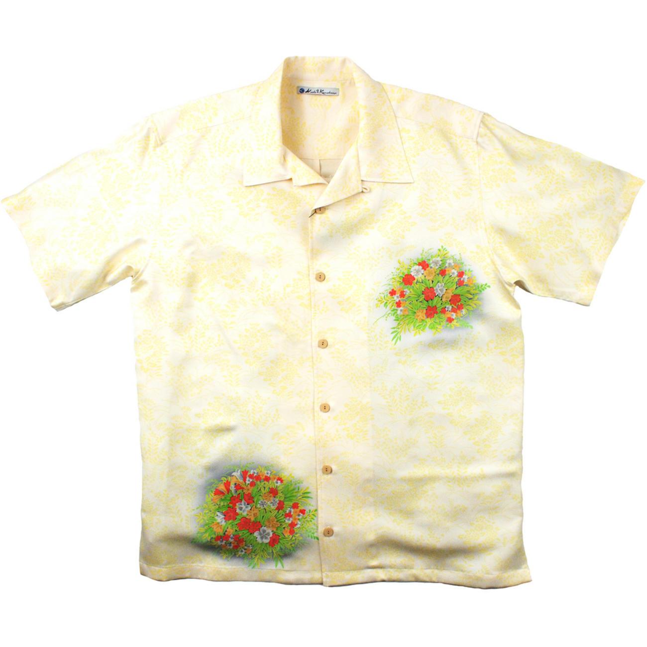 大きいサイズの和柄アロハシャツ TESSENKA M