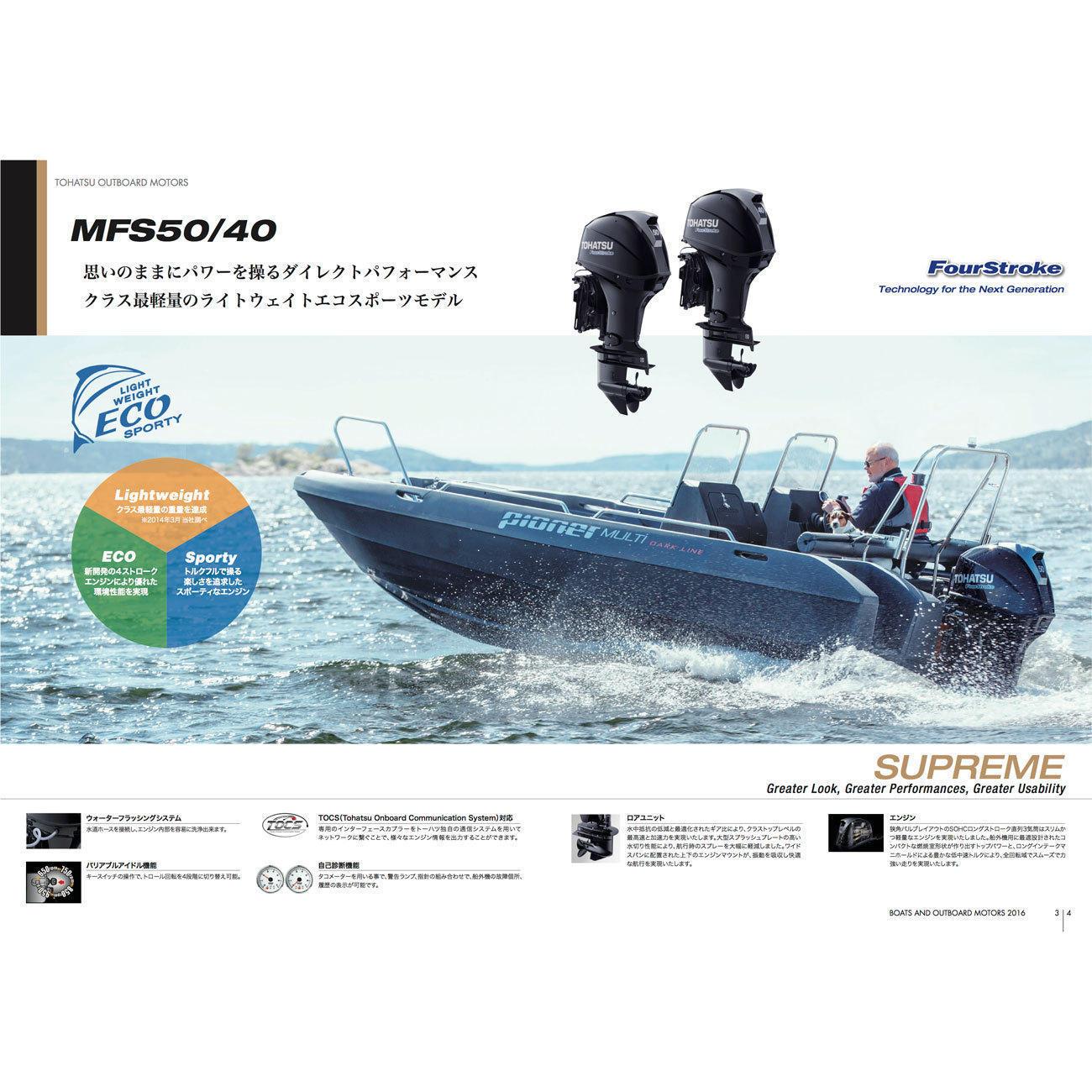 MFS50A-ETL 4ストローク50馬力船外機 トランサムL