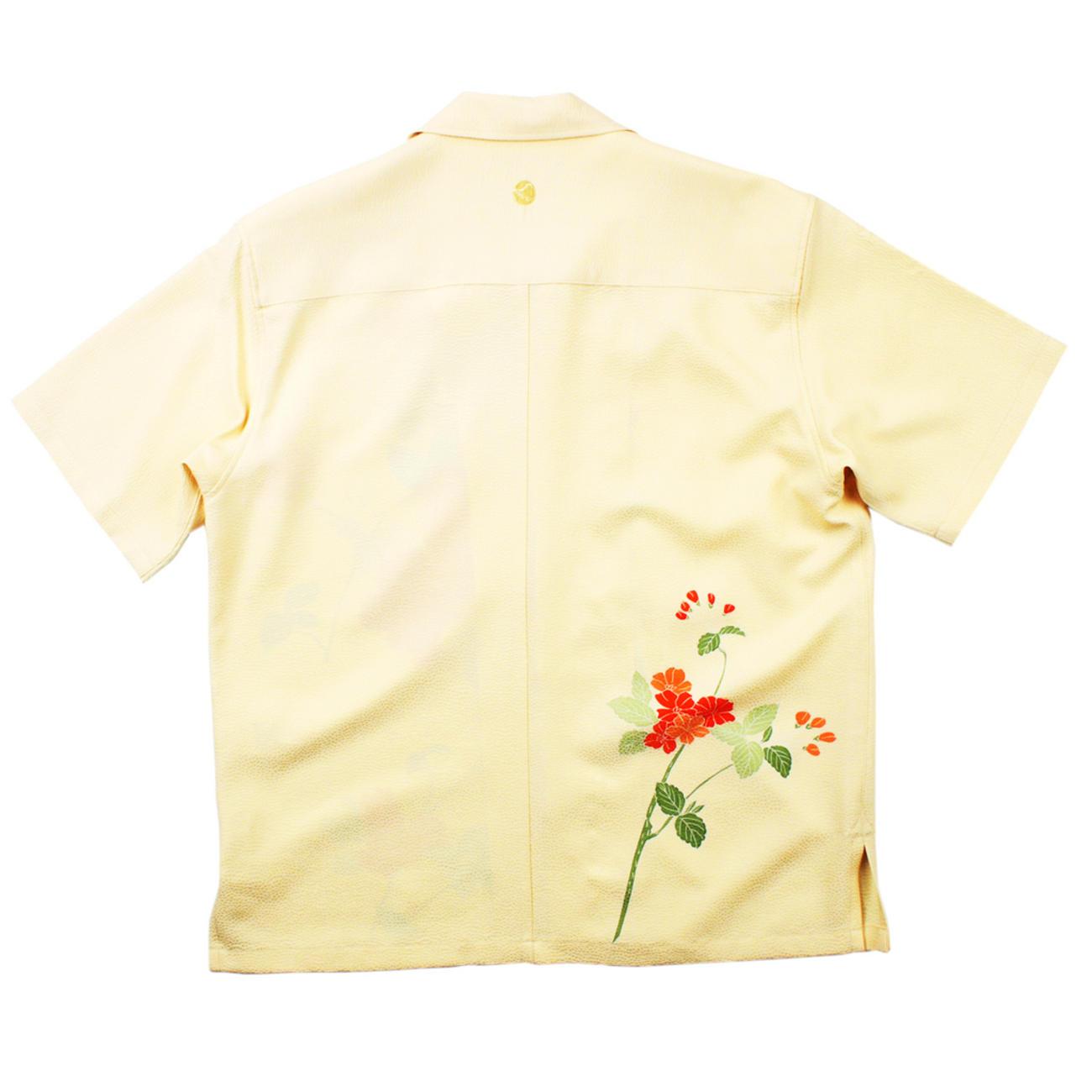 大きいサイズの和柄アロハシャツ BOTAN S