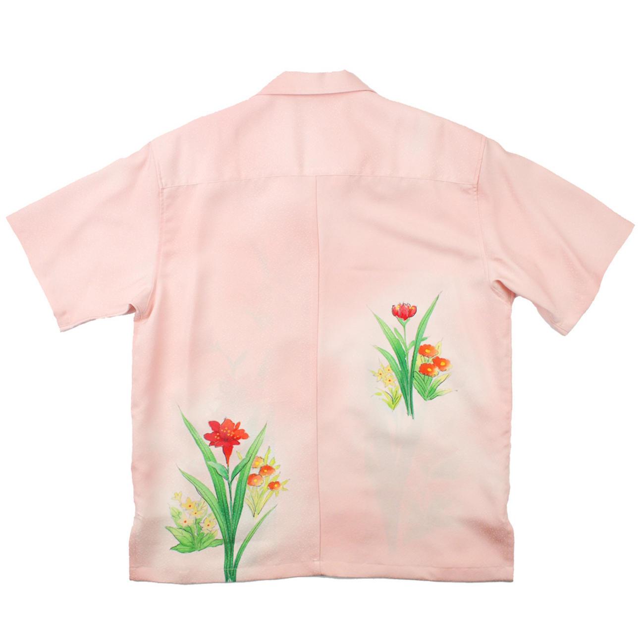 大きいサイズの和柄アロハシャツ SUISEN M