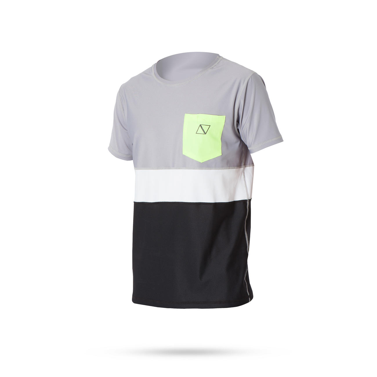 CUBE QUICKDRY S/S Unisex 3色ボーダー 半袖吸汗速乾シャツ