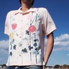 大きいサイズの和柄アロハシャツ AJISAI S