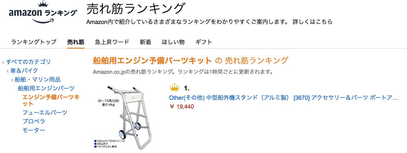 アマゾンランキング1位獲得商品